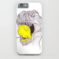 iPhone & iPod Case featuring Zest For Life T-Rex Dino by Kate Webber