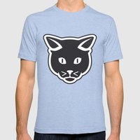 The Black Cat Mens Fitted Tee Tri-Blue SMALL