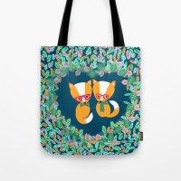 Valentine Fox Tote Bag