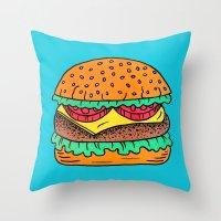 Burger Throw Pillow