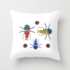 playful insects Throw Pillow