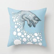 Jumping fox Throw Pillow