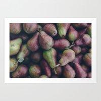 Red Pears Art Print