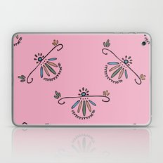 Colorful ornaments in the folk style on pink background Laptop & iPad Skin