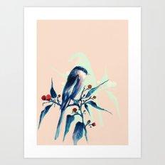 Hashtag Blue Bird Art Print