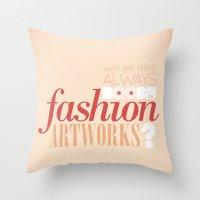 Boobs on fashion. A simple question. Throw Pillow