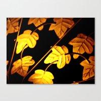 Vintage leaves  Canvas Print