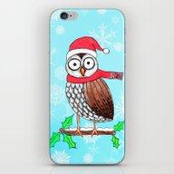 Festive Owl iPhone & iPod Skin