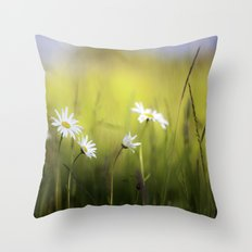 Daisy Landscape Throw Pillow