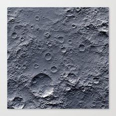 Moon Surface Canvas Print