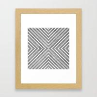 Stripes in Grey Framed Art Print