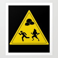 Full Moon - Take Caution… Art Print