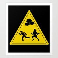 full moon - take caution  Art Print