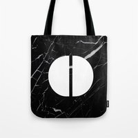 Black Marble - Alphabet O Tote Bag