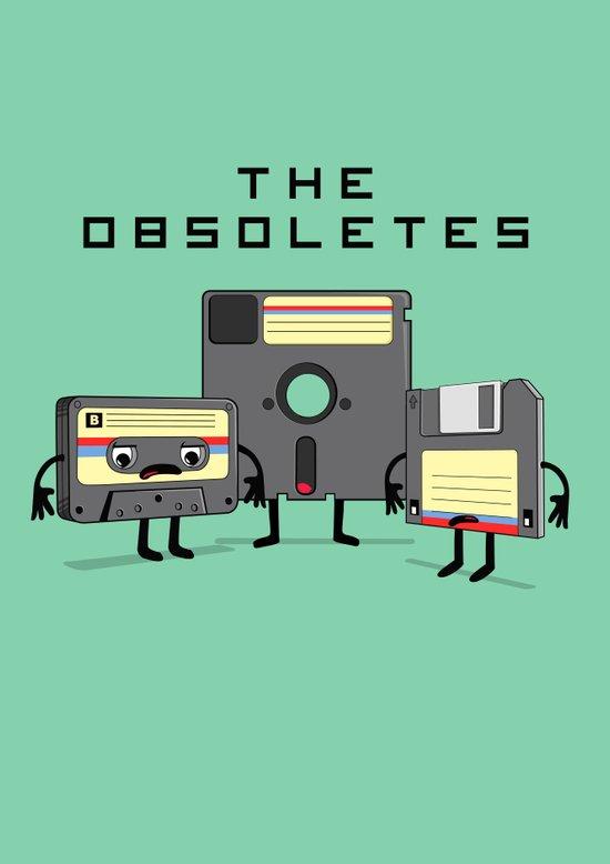 The Obsoletes (Retro Floppy Disk Cassette Tape)  Art Print