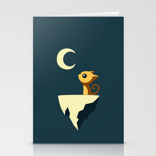 Moon Cat Stationery Card