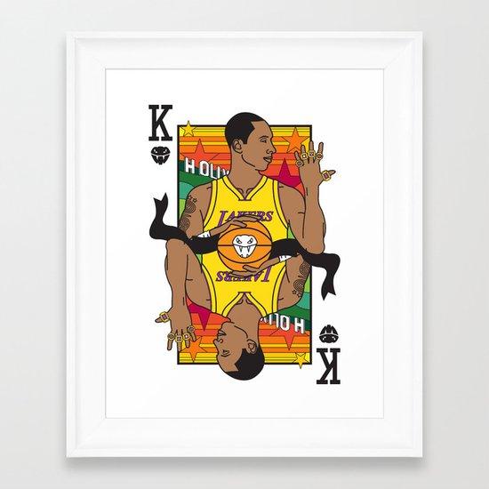 King of LA Framed Art Print