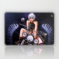 Motorcycle pinup Laptop & iPad Skin