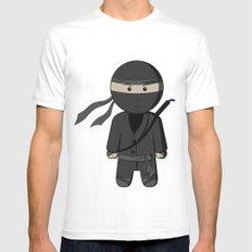 Ninja SMALL Mens Fitted Tee White