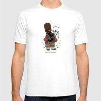 Scottie With A Bagpipe Mens Fitted Tee White SMALL