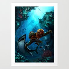 Deep Loot Art Print