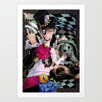 Alice in Boyland- Hatter Art Print