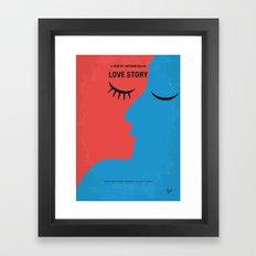 No600 My Love Story minimal movie poster Framed Art Print