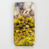iPhone & iPod Case featuring Flower Purple Yellow by KASSABLANKA