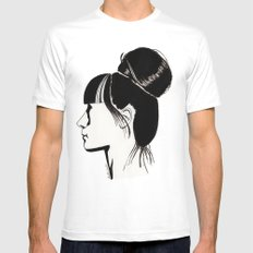 Françoise Mens Fitted Tee SMALL White