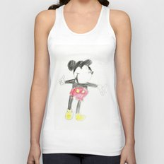 Childhood Drawings (Mickey) Unisex Tank Top