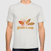 Autumn is magic Mens Fitted Tee Silver SMALL