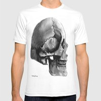 Skull 2 Mens Fitted Tee White SMALL