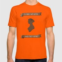 I always find Austen too short Mens Fitted Tee Orange SMALL