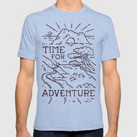 Time For Adventure Mens Fitted Tee Tri-Blue SMALL