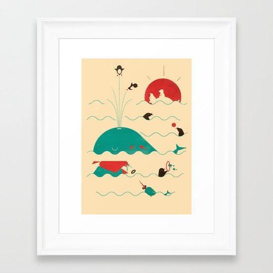 Arctic Playground Framed Art Print