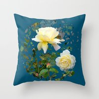 Roses On A String Throw Pillow