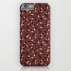 loves me loves me not pattern - oxblood Slim Case iPhone 6s