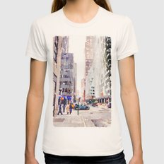 NYC Womens Fitted Tee Natural SMALL