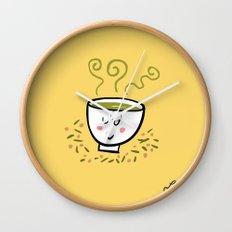 Genmaicha Tea Wall Clock