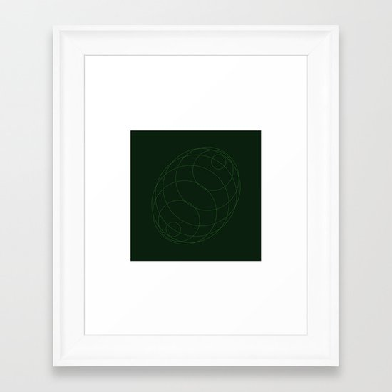 #298 Echo chamber – Geometry Daily Framed Art Print