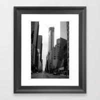 Manhattan Street Framed Art Print