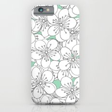 Cherry Blossom With Mint Blocks - In Memory of Mackenzie Slim Case iPhone 6s