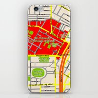 Map design of the University of southern California, LA iPhone & iPod Skin