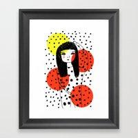 Kusama ♥ Framed Art Print