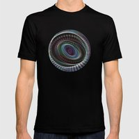 Abstract Spiral Staircas… Mens Fitted Tee Black SMALL