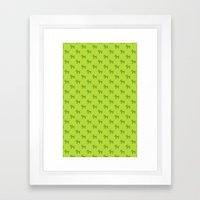 Dogs-Green Framed Art Print