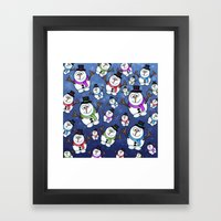 Frosties The Snowmen. Framed Art Print