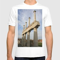 Pillars Mens Fitted Tee White SMALL