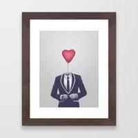 Mr. Valentine Framed Art Print