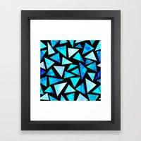 Blue Triangle Mountains Framed Art Print